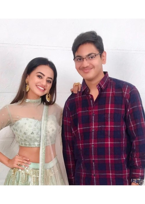 Helly Shah as seen in a picture with her younger brother