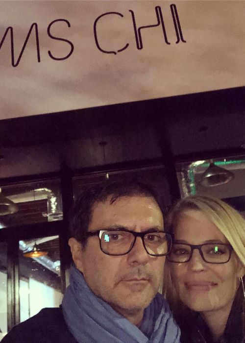 Jeri Ryan with her Spouse Christophe Eme as seen on her Instagram Profile in December 2018