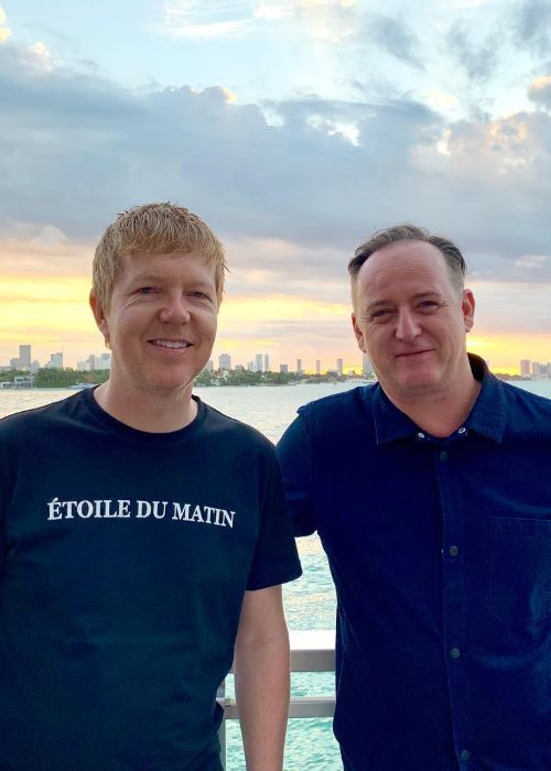 John Digweed with DJ Sasha in April 2019