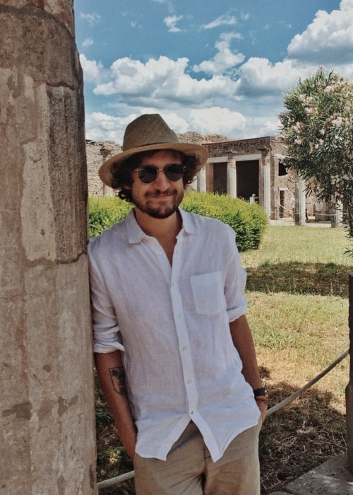 Julien Barbagallo as seen in a picture taken at the Pompeii Archaeological Park in June 2018