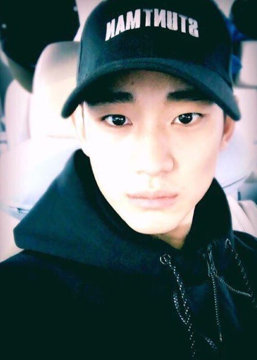 Kim Soo-Hyun in an Instagram Selfie in March 2016