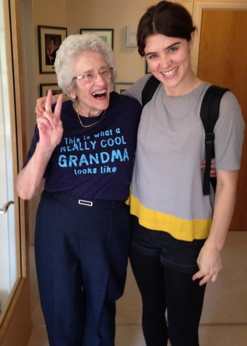 Lucy Griffiths (Right) with her grandmother as seen in August 2014