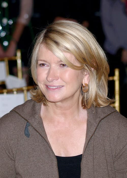 Martha Stewart during the New York Fashion Week in September 2006