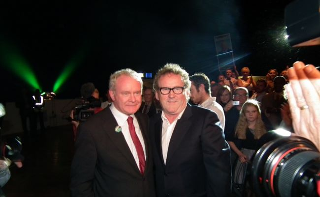 Martin McGuinness and Colm Meaney as seen on October 2011
