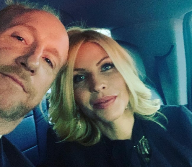 Matt Walsh as seen while taking a selfie with wife Morgan Walsh in March 2019