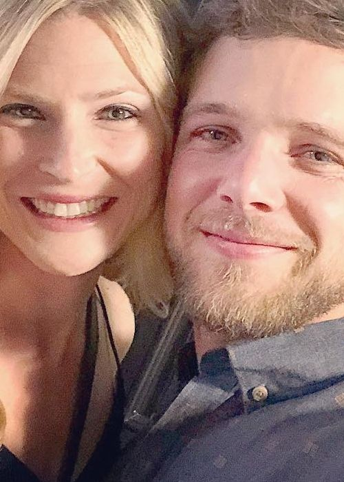 Max Thieriot in an Instagram selfie with his wife