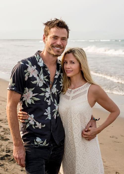 Mira Sorvino and Christopher Paul Backus as seen in January 2018