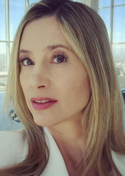 Mira Sorvino in an Instagram selfie as seen in April 2017