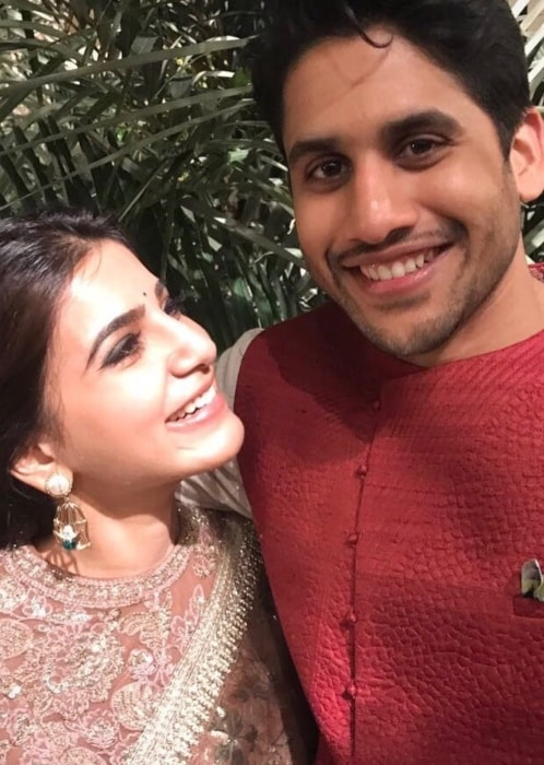 Naga Chaitanya as seen in a picture with his beau Samantha Ruth Prabhu taken in December 2016