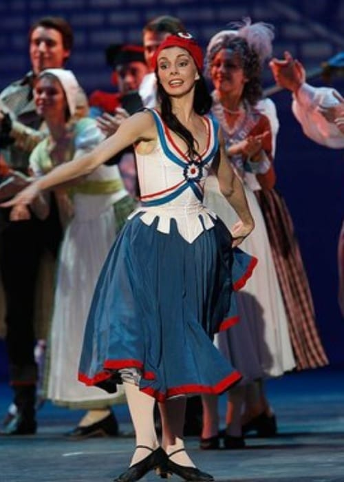 Natalia Osipova during a performane at the Bolshoi Theatre in October 2011