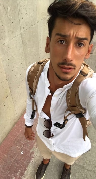 Nico Conte as seen while taking a selfie in Mexico City, Mexico in May 2017