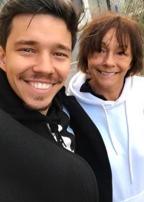 Nico Santos as seen in a selfie with his mother taken in May 2018