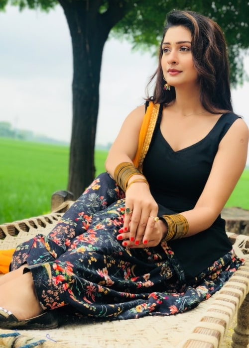 Payal Rajput as seen in a picture taken in Punjab in August 2018