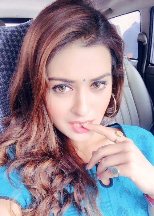 Payal Rajput as seen in a selfie taken in Hyderabad in March 2019