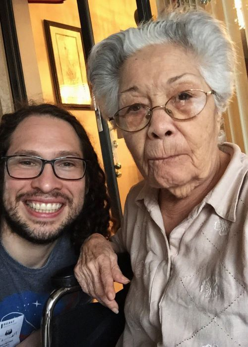 Ray Toro in a Twitter Selfie with Abuela