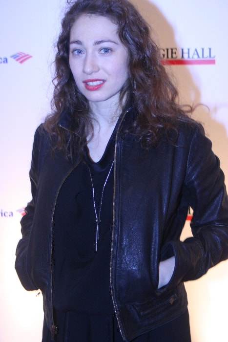 Regina Spektor as seen while posing for the camera at the 120th Anniversary of Carnegie Hall in The Museum of Modern Art, New York City, New York in April 2011