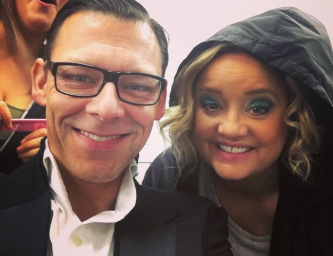 Richard Coyle and Lucy Davis as seen in October 2018