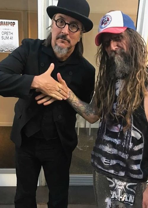 Rob Zombie with Les Claypool in March 2019