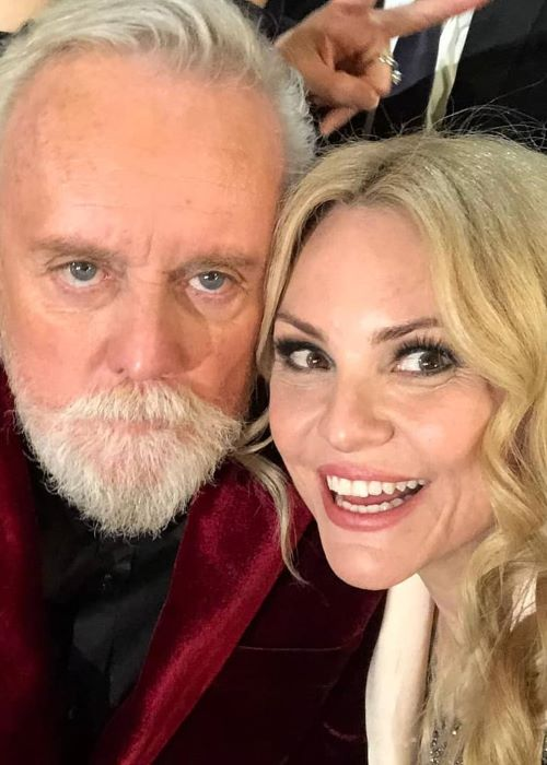 Roger Taylor with his Wife Sarina Taylor in an Instagram Selfie in February 2019
