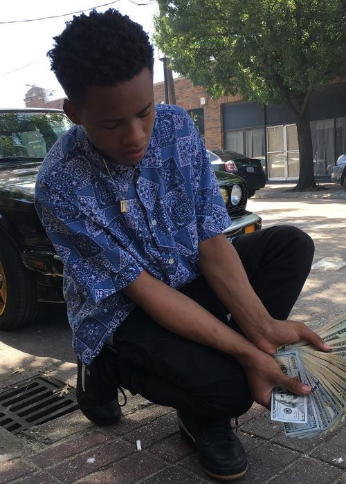 Tay-K as seen on his Instagram Profile in June 2017
