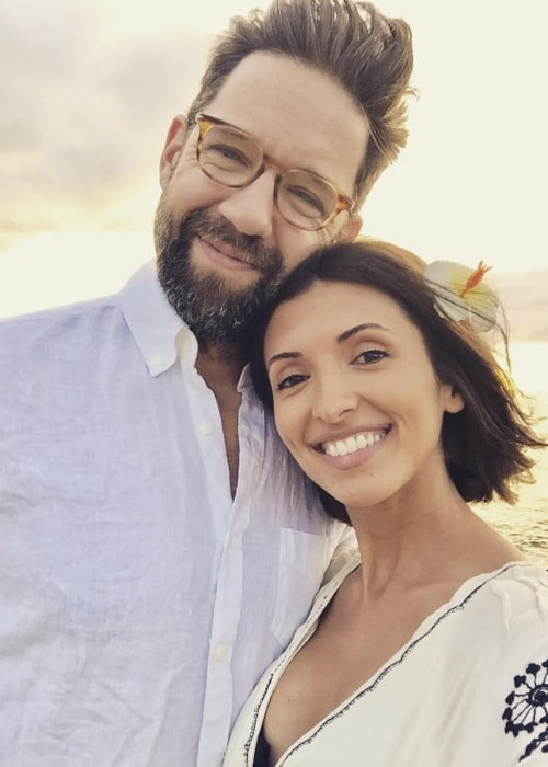 Todd Grinnell and India de Beaufort in a selfie in November 2017
