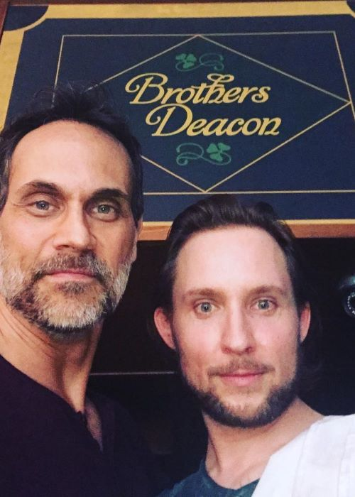 Todd Stashwick with Geoff Scovell as seen on his Instagram Profile in February 2019