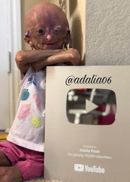 Adalia Rose as seen in a picture taken in April 2018