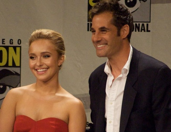 Adrian Pasdar and Hayden Panettiere as seen in July 2008