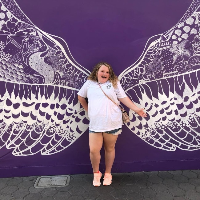 Alana Thompson as seen while posing for a picture at the Universal Studios during her first visit to the place in September 2018
