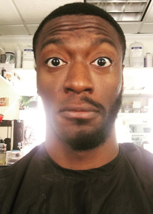 Aldis Hodge in an Instagram selfie as seen in March 2017