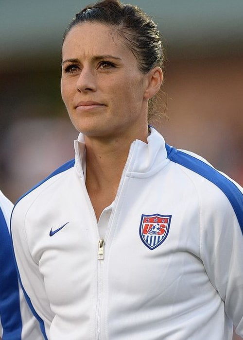 Ali Krieger during a match as seen in August 2014
