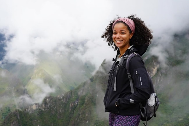 Alisha Wainwright as seen while posing for a stunning picture in Machu Picchu, Peru in April 2019