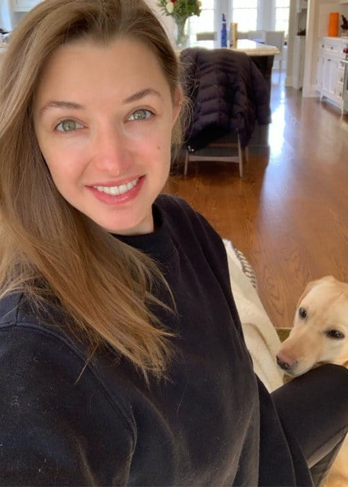 Alyssa Arce in a selfie with her dog as seen in May 2019