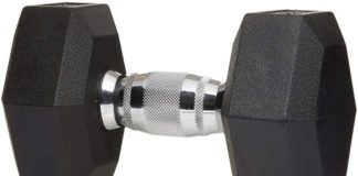 AmazonBasics Rubber Encased Hex Dumbbell Review