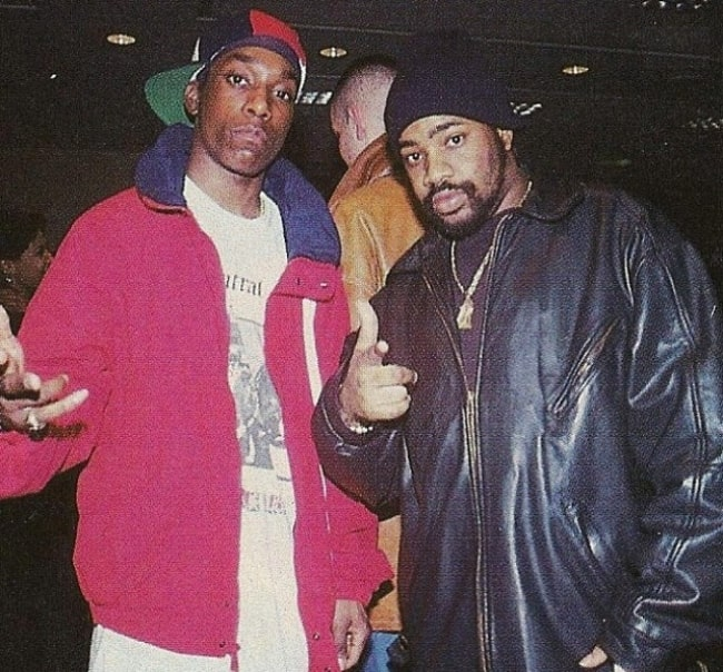 Big L (Left) as seen while posing for a picture with rapper Lord Finesse