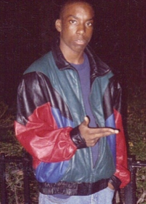 Big L as seen while posing for the camera