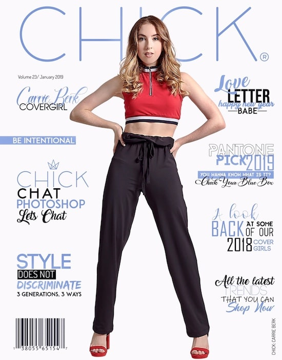 Carrie Berk's Magazine Cover for Chick NYC in 2019