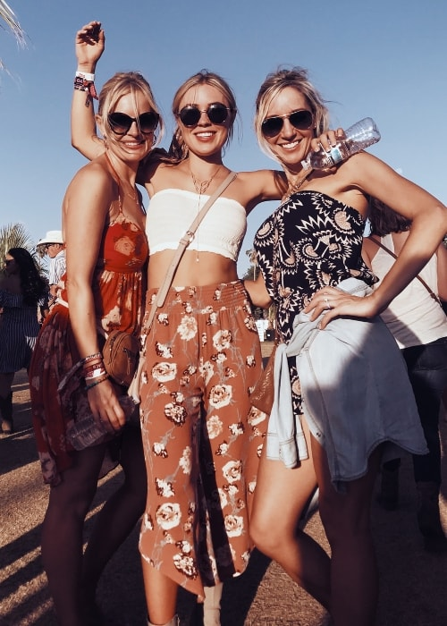Cassie Randolph as seen while posing for a picture with Annie Silva Warner (Right) and Sandy Johnstone (Left) at Stagecoach California's Country Music Festival in April 2018