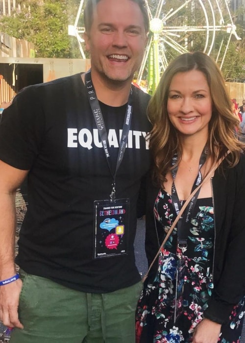 Catherine Taber as seen in a picture with professional beatboxer and auditioner Scott Porter in July 2017