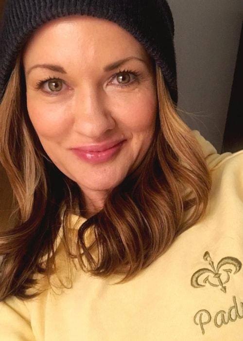 Catherine Taber as seen in a selfie taken in April 2019