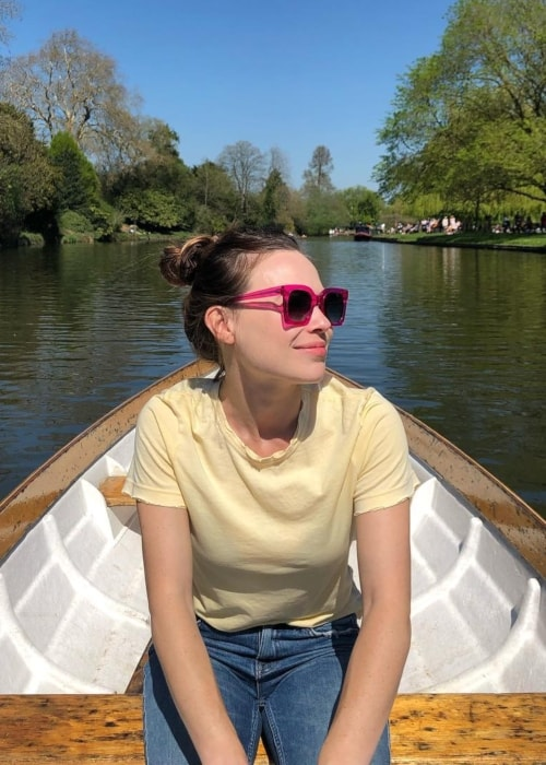 Celina Sinden as seen in a picture taken in Stratford-upon-Avon in April 2019