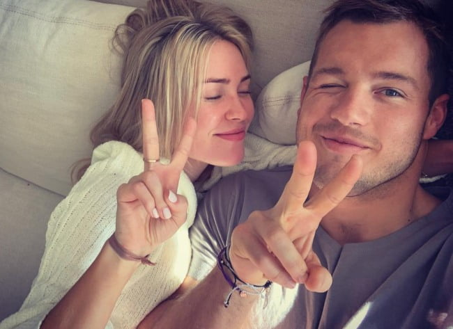 Colton Underwood and Cassie Randolph in a selfie in March 2019
