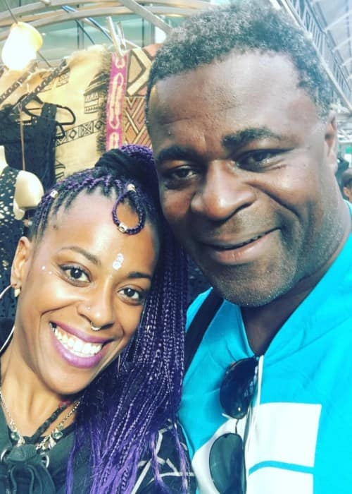 Danny Sapani and Mimi Fresh in a selfie in September 2018