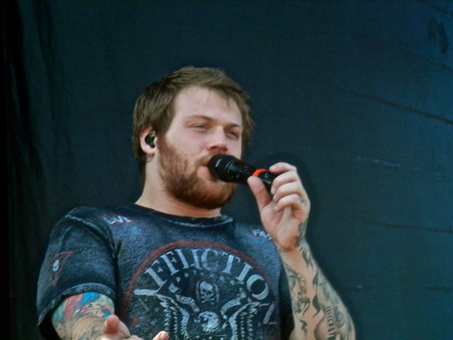 Danny Worsnop at the Soundwave Festival in February 2014