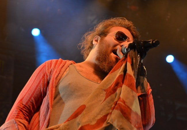 Danny Worsnop during a performance in June 2015