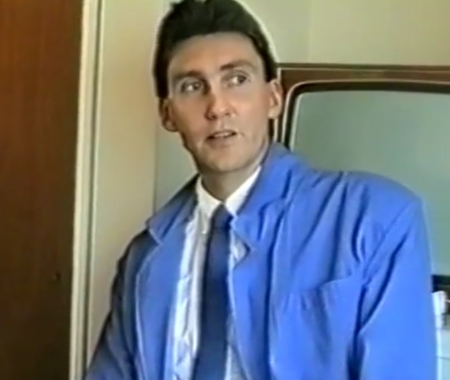 David Banks during an interview in 1987