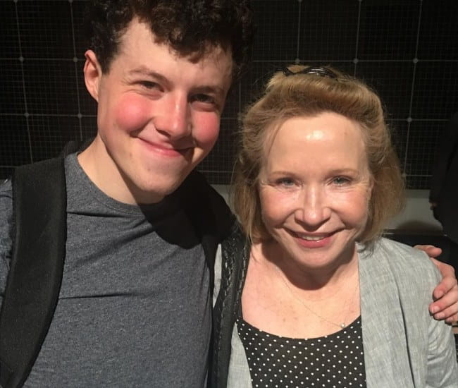 Debra Jo Rupp and Adam Langdon at the Ahmanson Theatre in August 2017