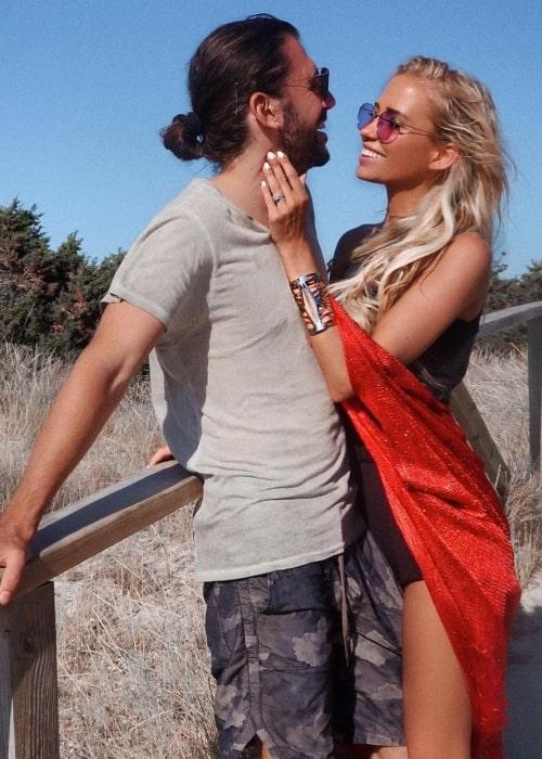 Dimitri Vegas as seen while posing with his wife, Anouk Matton