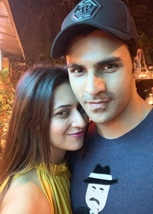 Divyanka Tripathi as seen in a selfie with her beau Vivek Dahiya in April 2019