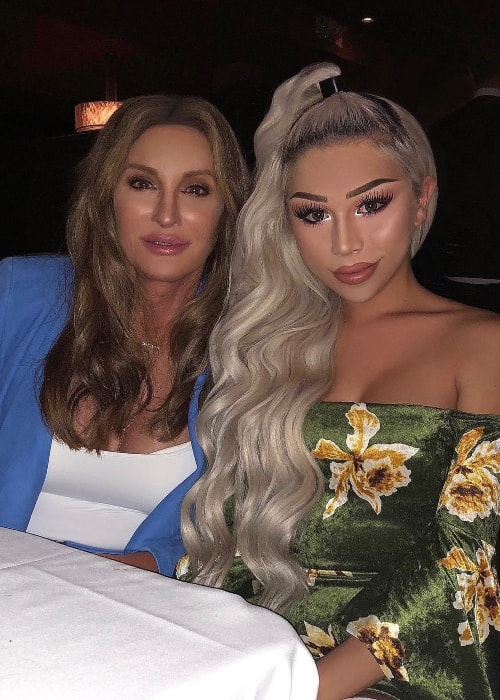 Eden Estrada (Right) as seen while posing for a picture with TV personality Caitlyn Jenner at Craig's which is located in West Hollywood, California, United States in April 2018